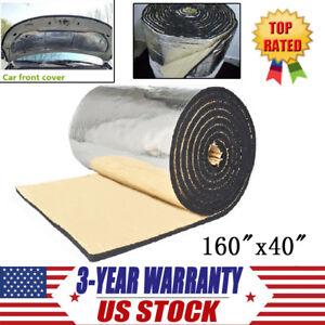 """Car Heat Sound Deadener Insulation Mat Shield Aluminum Foil 160/"""" x 40/""""// 60/""""x40/"""""""