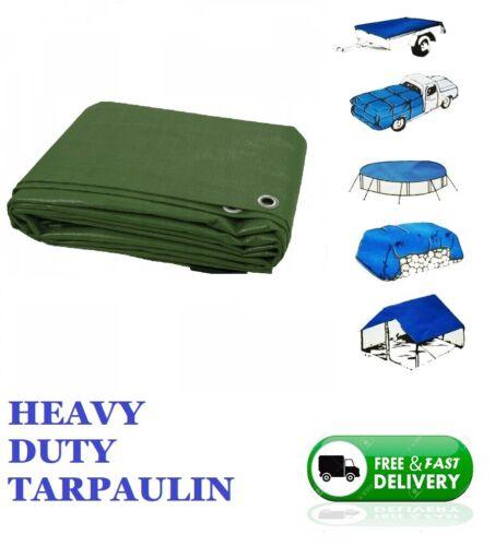 Heavy Duty Tarpaulin Waterproof Cover Tarp Ground Camping Sheet Green