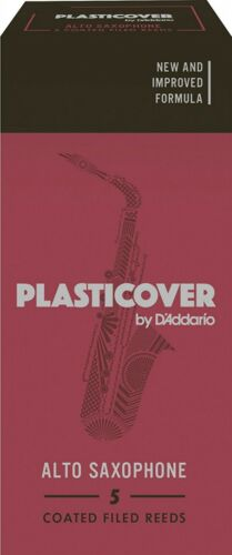 Plasticover by D/'Addario Alto Saxophone Reeds #2.0 5-Pack