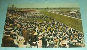 Equestrian-Postcard-View-Of-Doncaster-Races-Postmarked-Doncaster-1915
