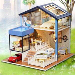 1-24-Dollhouse-Kits-Miniature-Diorama-DIY-Romantic-Private-Seattle-Villa