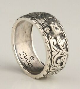 Italy-previously-owned-Gucci-925-Silver-Ring-19mm-diameter-heritage
