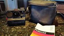 POLAROID SX 70 LAND CAMERA SONAR ONE STEP WITH MANUAL AND ORIGINAL CARRYING CASE