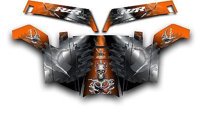 Polaris RZR 900 XP UTV Wrap Graphics Decal Kit 2011-2014 Unleashed Orange