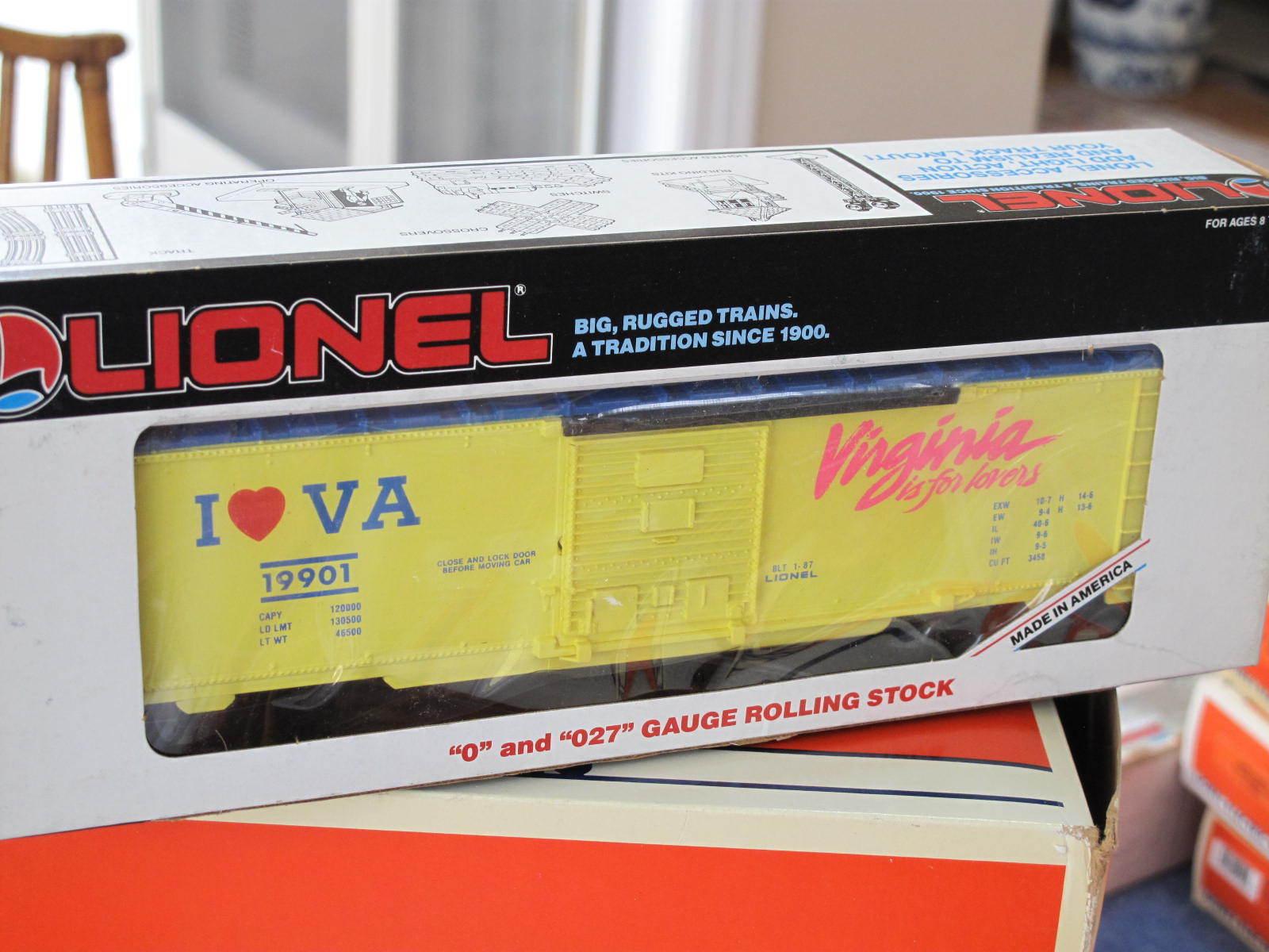 1987 Lionel 6-19901 I Love Virginia Box Car L0810