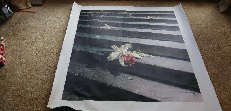 A1 (59.4cm x 84.1cm) Tretchikoff 'Lost Orchid' Canvas Art print