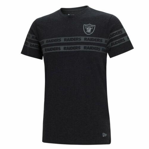 New Era NFL OAKLAND RAIDERS Tonal Black T-Shirt NEU//OVP