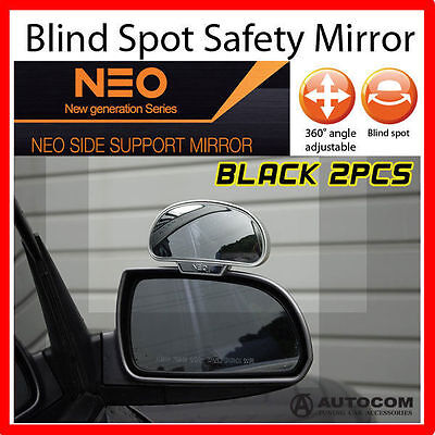 Neo side wide Blind Spot Rear Side Angle View Mirror  for Car Truck BLACK 2 PCS