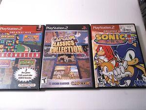 PS2-Classics-Game-Lot-Namco-Museum-Capcom-Sonic-Mega-Collection-PlayStation-2