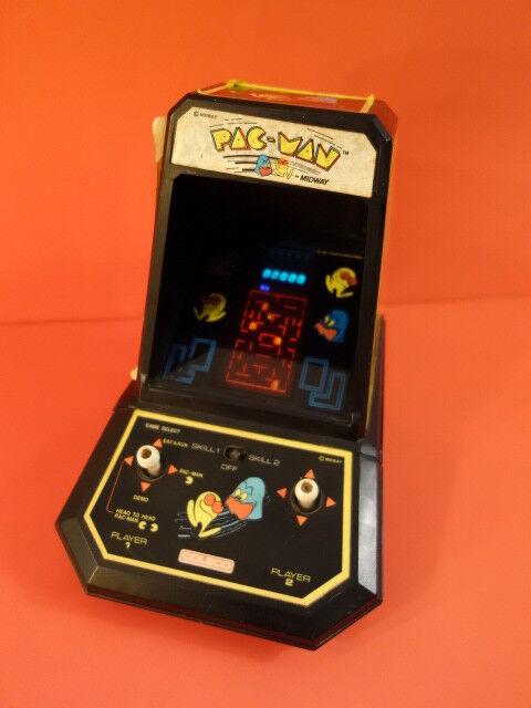Todo Original Coleco Pacman a mitad de camino 1980 con pilas de trabajo