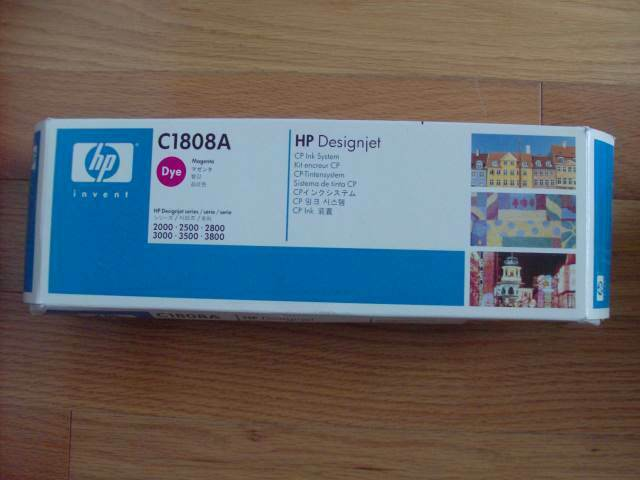 GENUINE HP DESIGNJET 2500CP MAGENTA CP INK SYSTEM C1808A 3000 3500 3800 NEW SEAL
