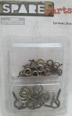 BULK Findings Silver Eye Screws Hook Screws 10mm 200 pieces