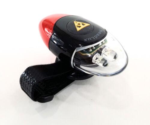Topeak Headlux Bicyclette DEL Casque Head /& Tail Light