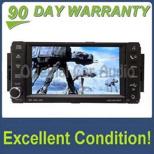 CHRYSLER JEEP DODGE Radio CD Player DVD AUX MP3 MyGig HHD Low-Speed REN OEM