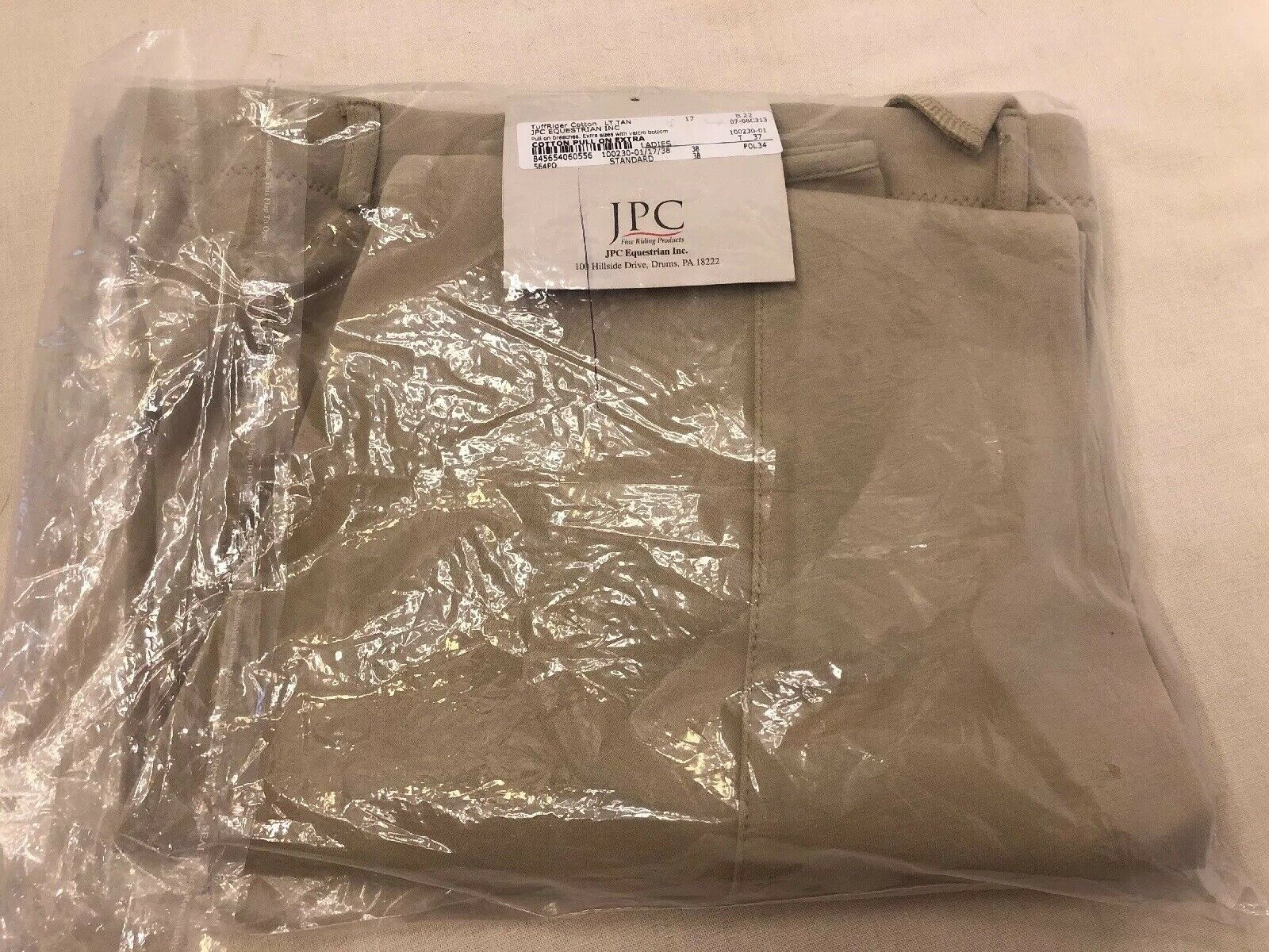TuffRider Cotton Pull On Extra Ladies Equestrian Pants  Breeches NWT 38S Velcro  authentic online