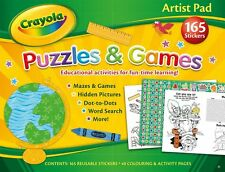 Kids Activity Paint Drawing  Puzzles Games FUN FULL CRAYOLA COLOURING BOOKS