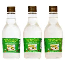 Organic 100% Virgin Coconut Oil ManilaCoco APPETITE SUPPRESSANT 3 x 250ml-750ml