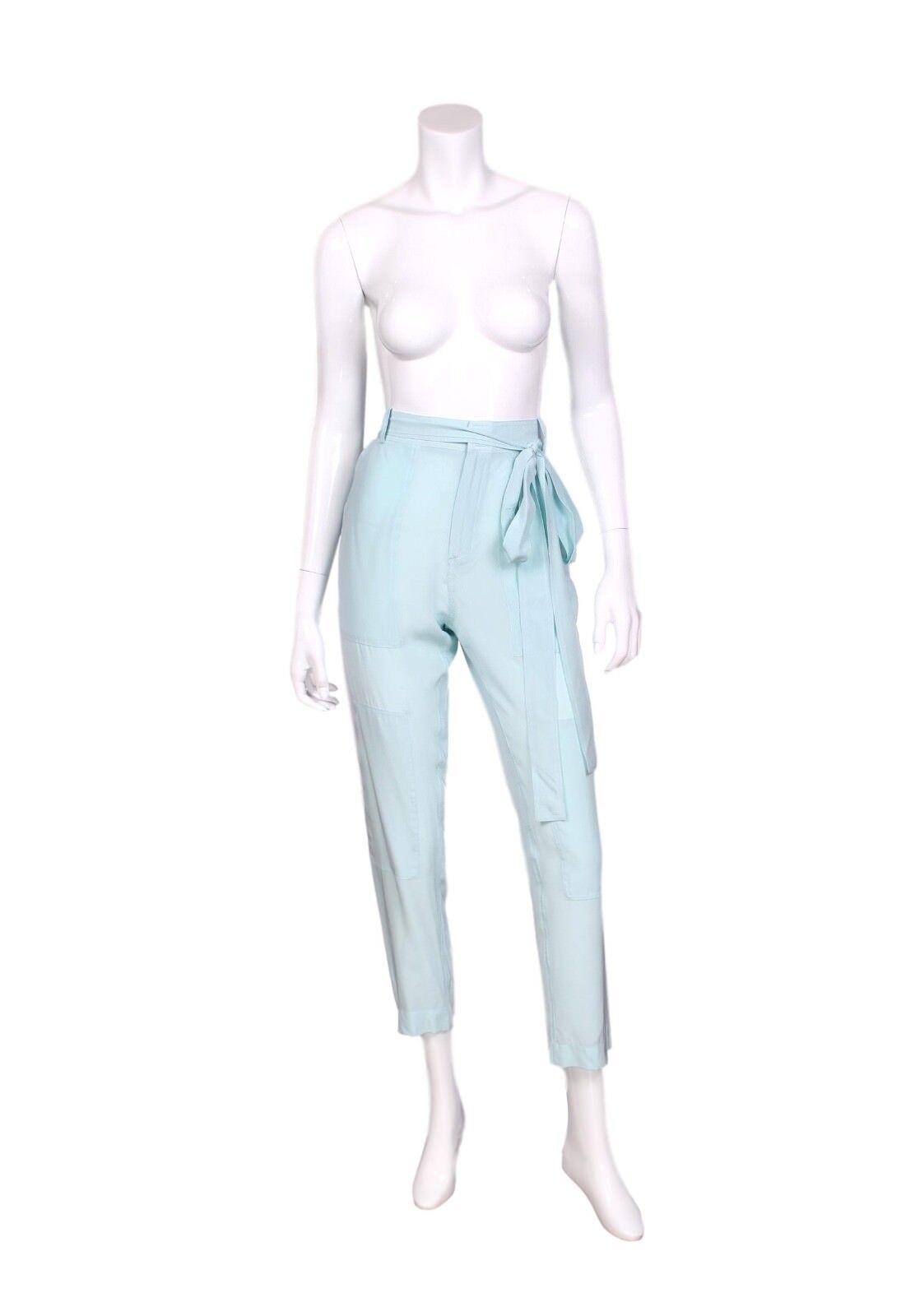 JUAN CARLOS OBANDO - NWT Blau Poolside Tonka Trouser Pants US 10 - Ret.  1,450