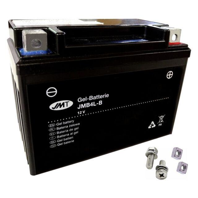 YB4L-B GEL-Bateria para Piaggio Cuarzo 50LC 1 año 1992-1997 de JMT