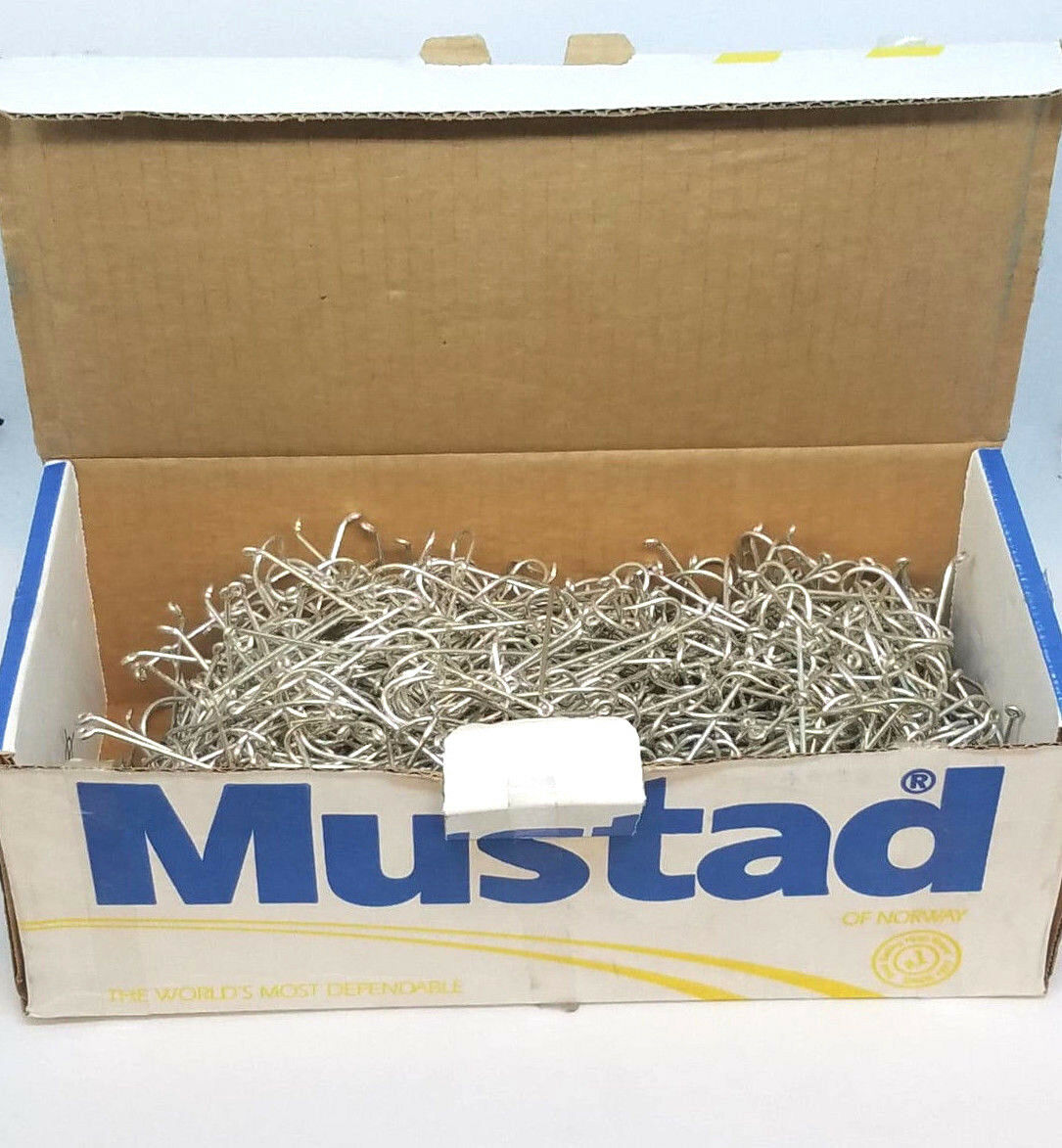 BOX OF 1000 MUSTAD DURATIN PACIFIC BASS Dimensione 30 SALTWATER HOOKS 3498AD