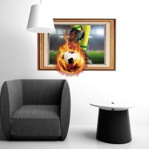 Fussball-3D-Wandtattoo-Wandsticker-Kinderzimmer-Wandaufkleber-Ball-Junge-176