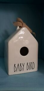 Rae-Dunn-Christmas-Collection-By-Magenta-Ceramic-Square-BABY-BIRD-Birdhouse-HTF