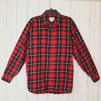 blue mountain red black white flannel shirt size large