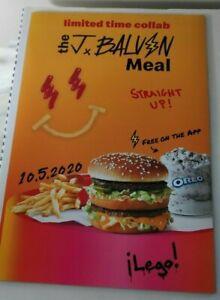"""13/"""" x 19/"""" J Balvin Mcdonalds Meal Poster"""