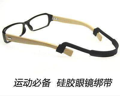 Silicone Eyeglasses Strap Glasses Sunglasses Sports Band black Cord Holder