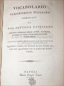 AGRONOMIA-GAGLIARDO-G-B-VOCABOLARIO-AGRONOMICO-ITALIANO-1813-Napoli-Trani