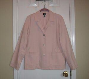 Pl Cotton ~ Petite Dusty Eileen Textured Sz Pink Fisher Blazer 0Xwqz