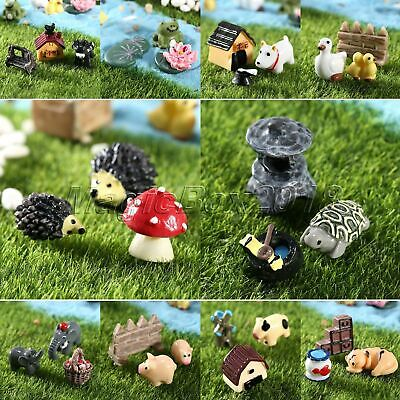 3pc Miniature Dollhouse Bonsai Craft Micro Landscape Lawn Ornament Pot Decor Set
