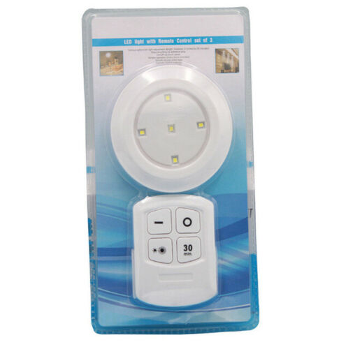 Battery Operated LED Puck Lights Under Cabinet Wardrobe Lighting Tap Lights