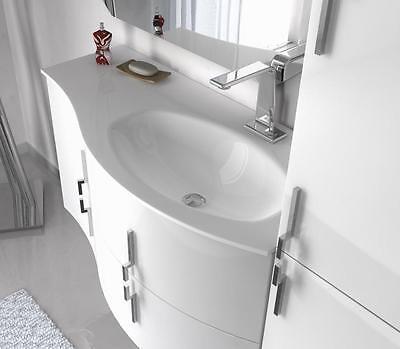 Mobile bagno cm 104 in 4 colori per arredo moderno sospeso for Arredo bagno alba