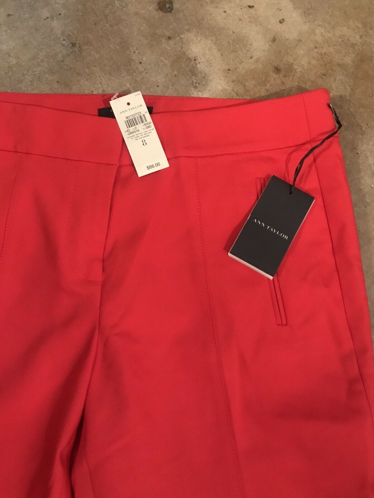 Ann Taylor rot Cropped Pants NEW Größe 8