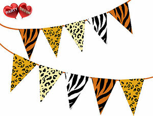 Safari-Animal-King-of-the-Jungle-Themed-Bunting-Banner-15-flags-by-PARTY-DECOR