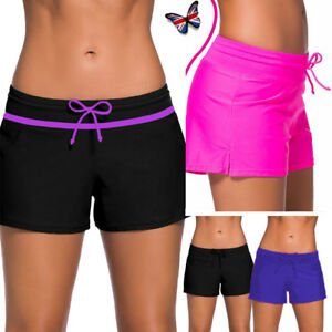 c61e2033d2c1c Image is loading Womens-Ladies-Swim-Pool-Shorts-Swimming-Bikini-Bottoms-