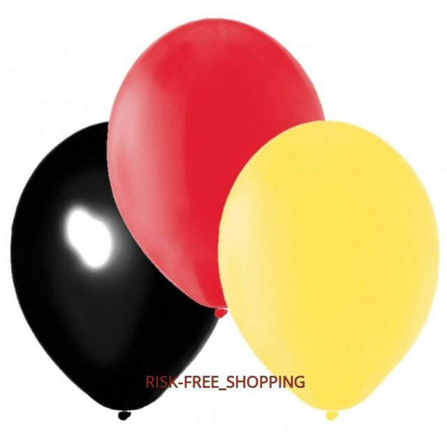 60 Street Sports Party Germany Black Red Yellow Latex Balloons Decoration baloon