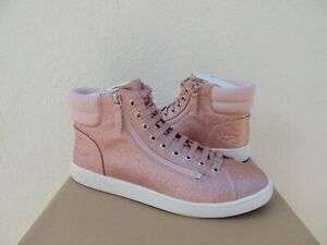 47c38dcb925 Details about UGG OLIVE PINK GLITTER SPARKLE SNEAKER ANKLE BOOTS, US 10/  EUR 41 ~NEW