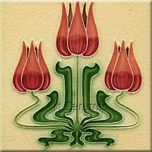 Art Nouveau Reproduction Decorative Ceramic tile 170