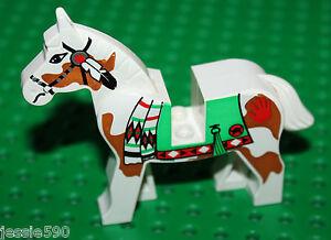 Cheval-Lego-Western-White-horse-ref-4493c01px3-set-6748-6718-6766-6763