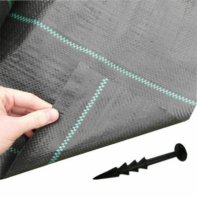 1.5M//2M Wide 100gsm Weed Control Fabric Ground Cover Membrane Garden Landscape