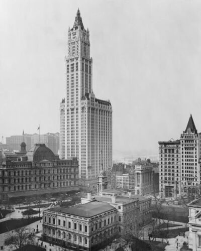 WOOLWORTH BUILDING 1913 NEW YORK CITY 8X10 PHOTO