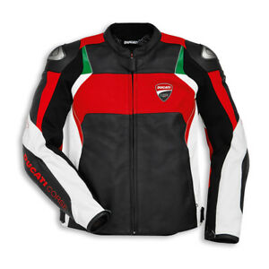 Ducati-Corse-C3-Leather-Motorcycle-Motorbike-Jacket-Tricolor-Tricolour-NEW