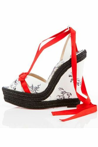 Eu41 Shoes Christian 20th Isabelle Anniversary Uk8 Us11 Wedge Louboutin Hebel tzqwdXX