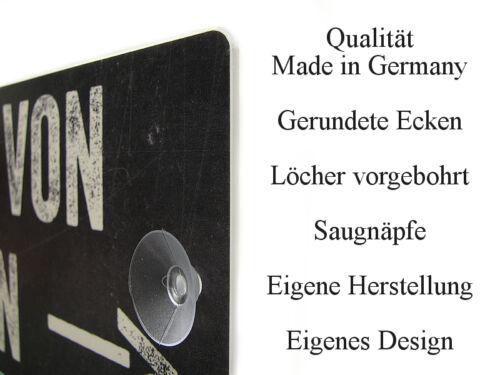Kunststoffschild Autoschild HEBAMME IM EINSATZ Shabby Vintage Einsatzschild