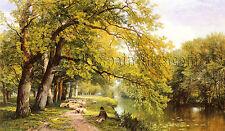 Hulme Frederick William Ockham Surrey Summer artista quadro dipinto olio tela