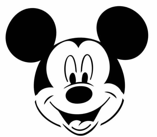 Mickey Mouse Disney Stencil