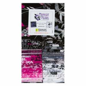 Benartex-Midnight-Pearl-Strip-Pie-2-5-034-Precut-Fabric-Quilting-Strips-J18