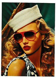 DIOR Pretty Blonde w/Sailor Hat Red Lips & Glasses 2000s Magazine Ad/Photo Page